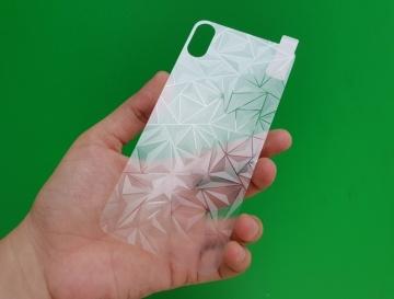 Dán kim cương 3D mặt sau iPhone X / Xs
